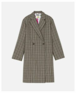 Stella McCartney Black Check Coat, Women's, Size 4