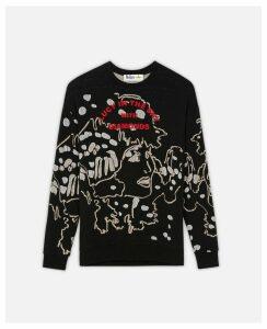 Stella McCartney Black Embroidered Jumper, Women's, Size 16