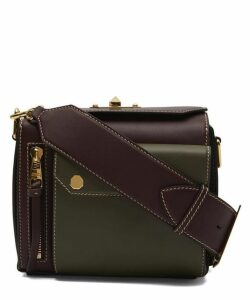 Military Two-Tone Leather Box Bag