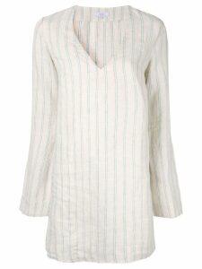 Venroy striped V-neck mini dress - Neutrals