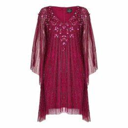 Adrianna Papell Beaded Short Kaftan Dress