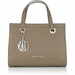 Armani Exchange Pebbled zip top shopper tote