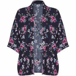 Yumi Rose Print Kimono