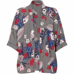 Yumi Flower & Stripe Kimono