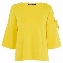 Karen Millen Tie-Shoulder T-Shirt