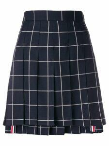 Thom Browne windowpane pleated mini skirt - Blue
