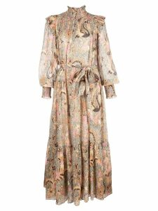 Ulla Johnson Constantine smocked midi dress - Yellow
