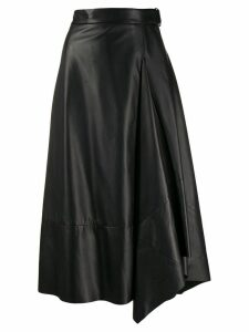 Brunello Cucinelli wrap midi skirt - Black