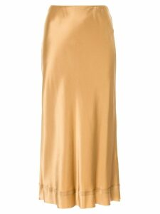 Lee Mathews Stella silk satin skirt - GOLD