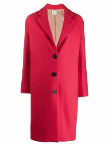 Semicouture single-breasted fitted coat - Red