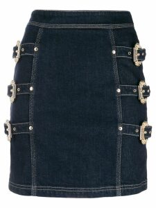Versace Jeans Couture buckle skirt - Blue