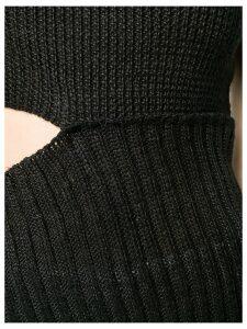 Ann Demeulemeester asymmetric knitted top - Black