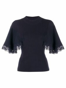 See By Chloé lace short-sleeve jumper - Blue