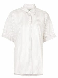 Lee Mathews boxy striped shirt - Neutrals