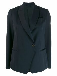 Brunello Cucinelli peaked lapel blazer - Blue