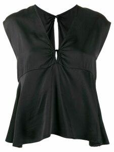 Forte Forte V-neck blouse - Black