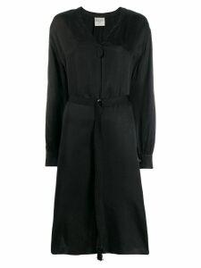 Forte Forte belted shirt midi dress - Black