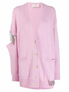 Christopher Kane embellished cut-out cardigan - Pink