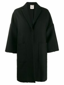 Semicouture oversized single breasted coat - Black
