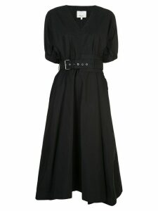 3.1 Phillip Lim Puff Sleeve Belted Dress - Black