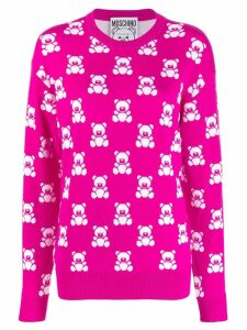 Moschino jacquard teddy bear sweater - Pink