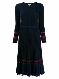 Kenzo pleated rib knit dress - Blue