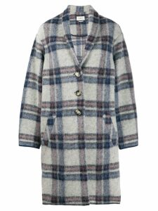 Isabel Marant Étoile oversized plaid coat - Blue
