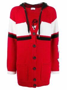 Red Valentino RED(V) slogan knitted cardigan