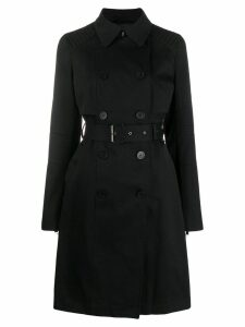 Karl Lagerfeld logo trench coat - Black