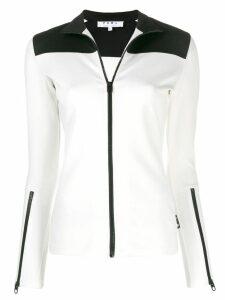 Proenza Schouler zipped cuffs sweatshirt - White