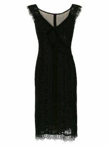 Martha Medeiros lace Mara midi dress - Black