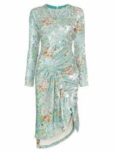 Preen By Thornton Bregazzi Daisy sequin ruched midi dress -
