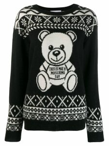 Moschino teddy print sweatshirt - Black