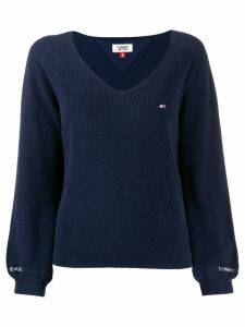 Tommy Jeans embroidered jumper - Blue
