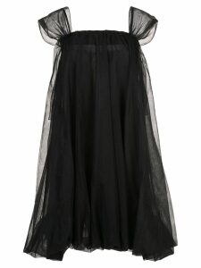 Simone Rocha flared tulle dress - Black