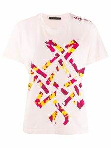 Mr & Mrs Italy abstract camouflage T-shirt - Pink