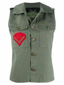 Mr & Mrs Italy sleeveless army jacket - Green