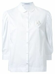Simone Rocha pleated puff sleeve shirt - White