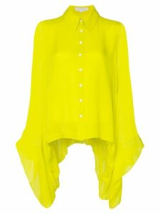 Carolina Herrera draped silk shirt - Yellow