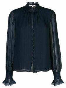 Jonathan Simkhai sheer sleeve blouse - Black