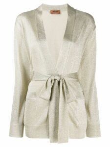 Missoni belted cardigan - Gold