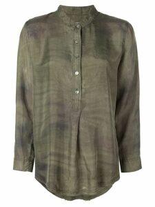 Raquel Allegra Army Camo shirt - Green