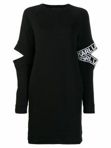 Karl Lagerfeld cut-out sleeve dress - Black