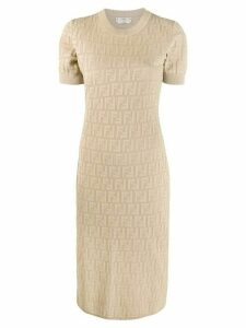 Fendi inlaid FF motif dress - Neutrals