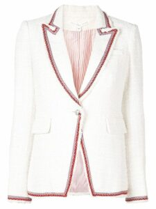 Veronica Beard pattered trim blazer - NEUTRALS