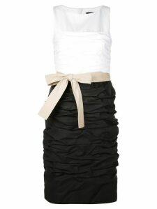 Paule Ka sleeveless ruched dress - Black