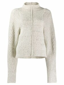 Isabel Marant oversized high-neck sweater - Neutrals