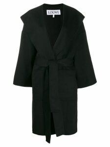 Loewe belted wrap coat - Black