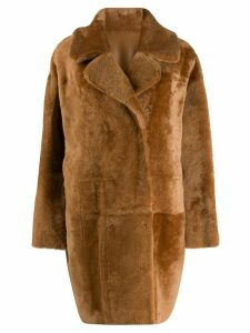 Drome reversible double-breasted coat - Brown