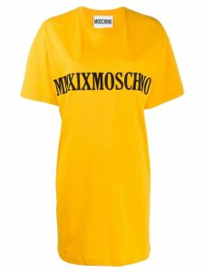 Moschino MMXIX embroidery T-shirt dress - Yellow